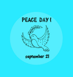 peace day september 21 on vector image
