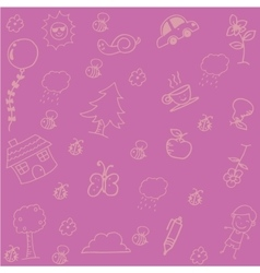 Pink Backgrounds doodle art vector image