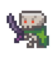 pixel monster pixel vector image