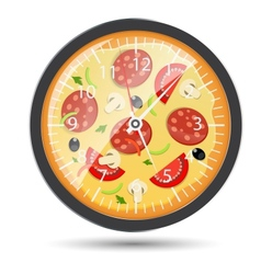 Pizza watch concept vector