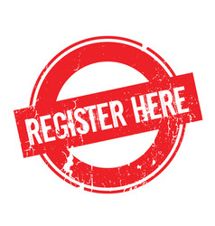 register here rubber stamp vector image