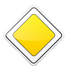 Road yellow sign on white background road traffic vector
