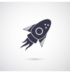 rocket icon isolated on background vector image