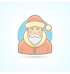 Santa Claus Jack Frost icon vector
