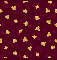 Seamless red gambling poker background vector