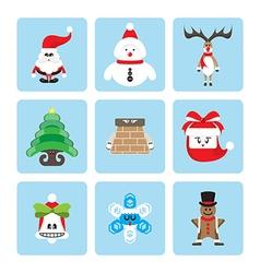 set christmas character vector image