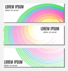 Set of colorful abstract header banners vector