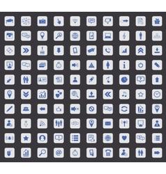 Social media icon set square vector