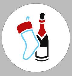 Sock wine box vector