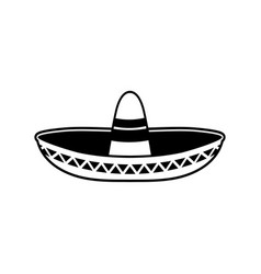 sombrero flat icon national mexican hat cap in vector image