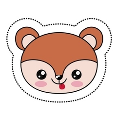 Squirrel kawaii cartoon design vector image