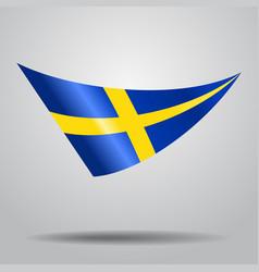 Swedish flag background vector