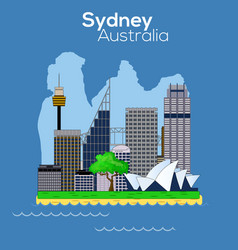 Sydney city icon vector