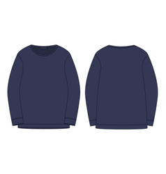 Technical sketch sweatshirt isolated in blue vector