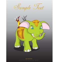 Thai elephant cute animal character isolated on vector
