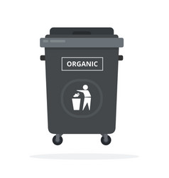 trash can on wheels for sorting organic waste vector image
