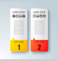 two steps business infographic concept vector image