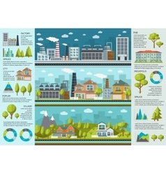 Urban Life Infographics vector