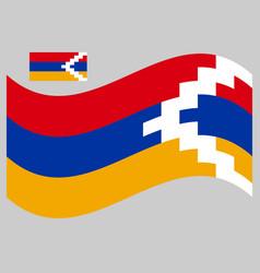 Waving flag artsakh nagorno karabakh vector