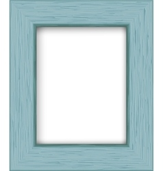 Wooden rectangular photo frame vector image