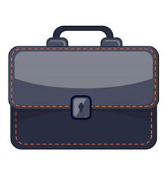 Black briefcase icon cartoon style vector