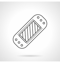 Blood glucose meter flat line icon vector