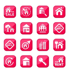 building icons vector image vector image