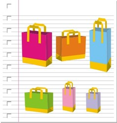 Empty Shopping Bag on paper vector image vector image