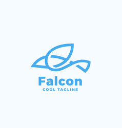 line style falcon symbol abstract icon vector image vector image