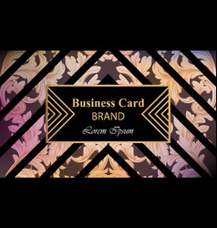 luxury brand card with luxurious ornament vector image vector image