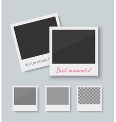 Set of old style photo frames vector image vector image