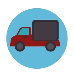 truck vehicle delivery service vector image vector image