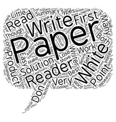 Why your white papers don t work text background vector
