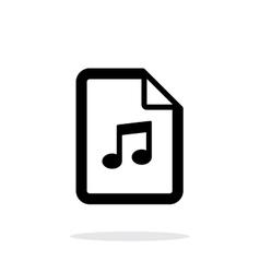 Audio file icon on white background vector image