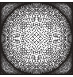 Black and White Abstract Psychedelic Background vector image