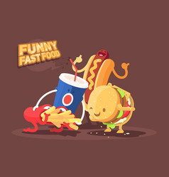 funny fast food vector image