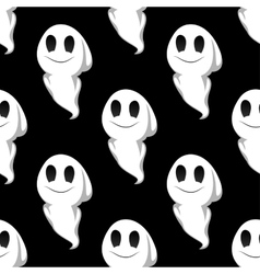 Halloween ghosts seamless pattern background vector image vector image