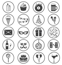 Party Icons Collection vector image vector image