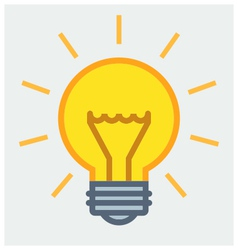 Shining light bulb poster vector image