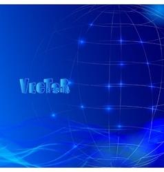 Abstract grid globe 01 vector image