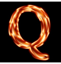 Fiery font Letter Q - EPS 10 vector image vector image