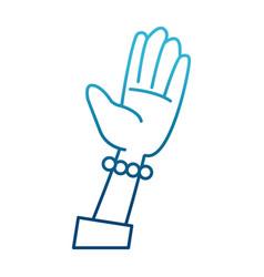 human hand cartoon vector image vector image