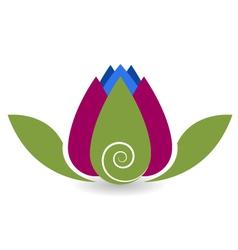 Swirly lotus flower yoga meditation vector image