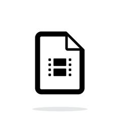 Video file icon on white background vector image