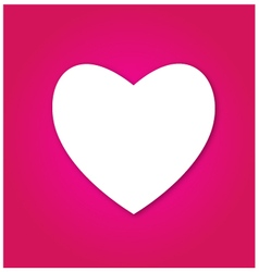 White heart on red background vector image vector image