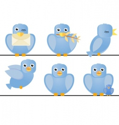 birds illustration vector image vector image