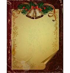 Christmas greeting-card vector image vector image