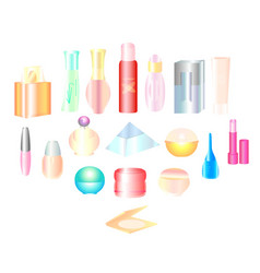 cosmetics make-up beauty accessories vector image