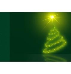 Glowing Christmas Tree vector image vector image