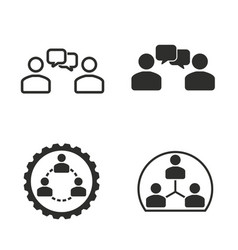 human interaction icon set vector image vector image